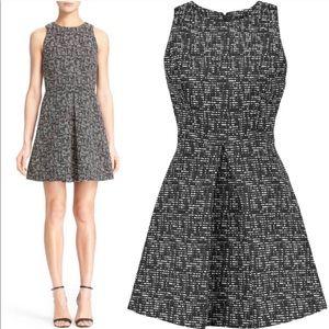 Alice + Olivia NWOT Janette Tweed pleated dress 8